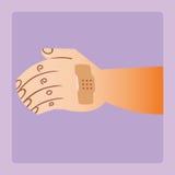 Ferida em seu remendo gravado braço Imagem de Stock Royalty Free