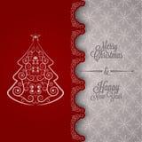 Ferie - år för glad jul för ram lyckligt nytt royaltyfri illustrationer