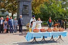 Ferie av den 200. årsdagen av den Ryssland segern i krig av 1812 Fotografering för Bildbyråer