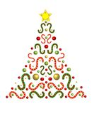 Ferie dekorerat julträd Royaltyfri Foto