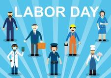 Ferie för arbets- dag stock illustrationer