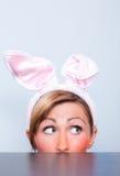 ferie för kanineaster flicka Royaltyfri Foto