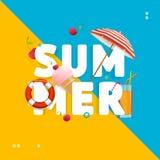 Ferie för lopp för sommarbegreppskort vektor stock illustrationer