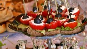 Ferie för mål för tomattabellmellanmål härlig smaklig lager videofilmer