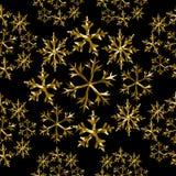 Ferie för modell för snövinter guld- låg poly sömlös stock illustrationer