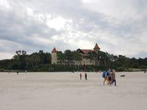 ferie för sand för slott för strand för ‹för †för havs Royaltyfri Foto