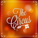 Ferie - lycklig cirkus för ram stock illustrationer