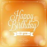 Ferie - lycklig födelsedag för ram stock illustrationer