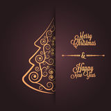 Ferie - lycklig glad jul för ram Arkivbild