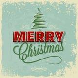 Ferie - lycklig glad jul för ram vektor illustrationer