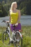 Ferie med cykeln Fotografering för Bildbyråer