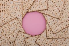 Ferie Nisan för lekmanna- rosa pesach för lägenhet för design för mandala för påskhögtidbakgrundsMatzah judisk fotografering för bildbyråer