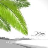 Ferie på den Hawaii stranden vektor illustrationer
