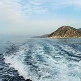 På det Aegean havet. Fotografering för Bildbyråer