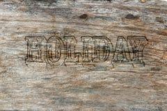 Ferie på wood gammal bakgrund Fotografering för Bildbyråer