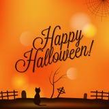 Ferie - ram lyckliga halloween royaltyfri illustrationer