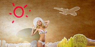 2 ferie sommar Fotografering för Bildbyråer