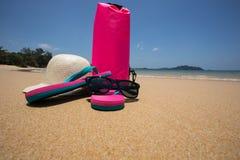 Ferie, sommar och sandstrand Royaltyfria Foton