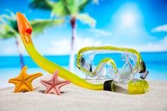 Ferie sommar, strandbakgrund, livlig färgrik atmosfär Royaltyfri Foto