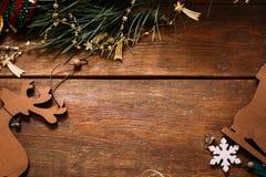 Feriebakgrund för jul och för nytt år arkivfoton