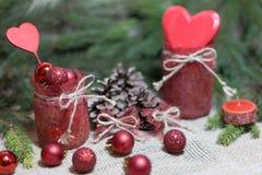 Feriebakgrund för jul och för nytt år royaltyfria foton