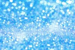 Feriebakgrund med blå bokeh abstrakt bakgrund Royaltyfria Bilder
