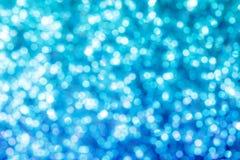 Feriebakgrund med blå bokeh abstrakt bakgrund Arkivfoto