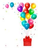 Feriebakgrund med färgrika ballonger Royaltyfria Bilder