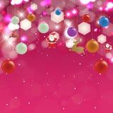 Feriebakgrund med julleksaker. stock illustrationer