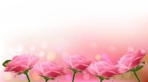 Feriebakgrund med rosa blommor Arkivfoto