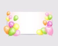 Feriebakgrunder med färgrika ballonger Arkivfoto