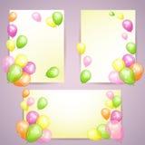 Feriebakgrunder med färgrika ballonger Royaltyfri Fotografi