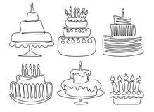 Feriefödelsedagkaka stock illustrationer