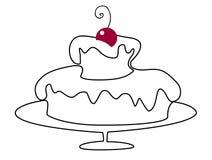 Feriefödelsedagkaka royaltyfri illustrationer