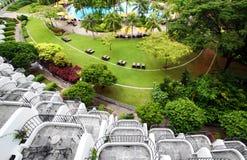 feriehotellet tillgriper tropiskt Royaltyfri Fotografi