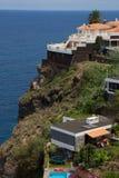Feriehus över hav Fotografering för Bildbyråer