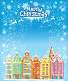 Feriekort för jul och för nytt år Arkivfoto