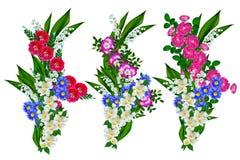 Feriekort med rosor och liljekonvaljer Arkivbilder