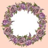 Feriekortmall författare blommar vattenfärg för I-målningsbild blommar kranen bröllop för abstraktionkortillustration Rospionlilo stock illustrationer