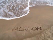 Ferien auf dem Strand Stockbild