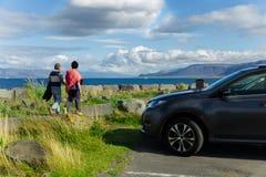 Ferien in den isländischen Bergen Lizenzfreie Stockbilder