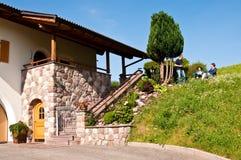 Ferien in den italienischen Alpen im Sommer Lizenzfreies Stockbild