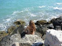 Ferien durch das Meer Stockfoto