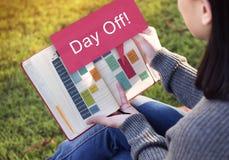 Ferien-Feiertags-Ereignis-Entspannungs-Konzept des freien Tages Lizenzfreies Stockbild