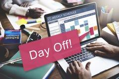 Ferien-Feiertags-Ereignis-Entspannungs-Konzept des freien Tages Stockfoto