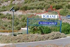 Ferien - Igrane, Kroatien Lizenzfreies Stockbild