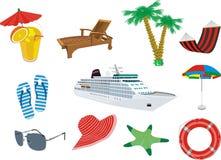Ferien in Meer Stockbild