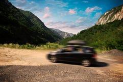 Ferien mit dem Auto Stockfotos