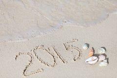 Ferien mit 2015 Stränden Stockfotos