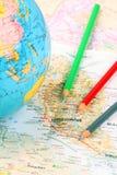 Ferien-Reisen-Plan Stockbilder
